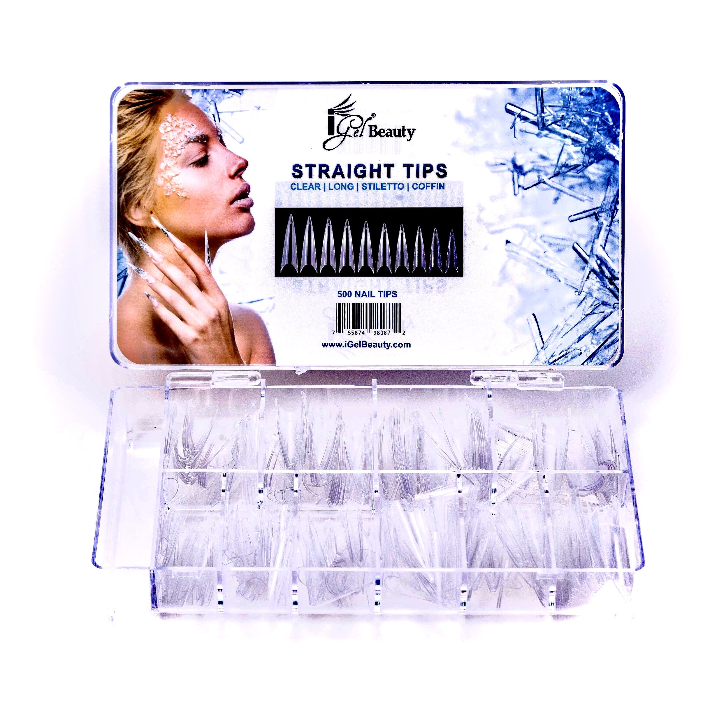 Universal Stiletto Nail Tips Box
