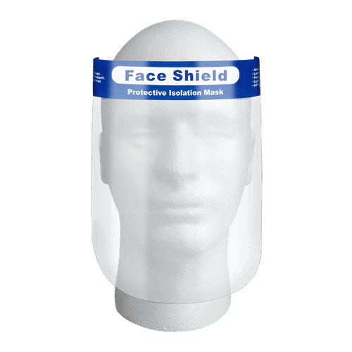 Clear Plastic Face Shield - 10pcs