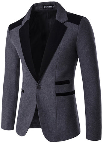 B290 Mens Hipster One Button Slim Fit Blazer Suit Outer coat