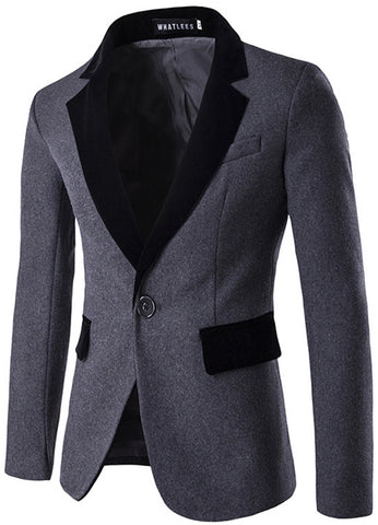 B291 Mens Hipster One Button Slim Fit Blazer Suit Outer coat