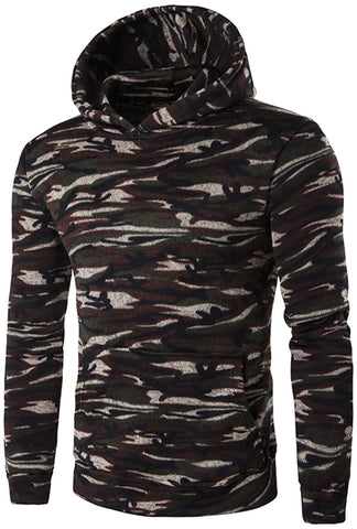 B305 Unisex Hipster Camouflage Pullover Hoodie With Front Pocket