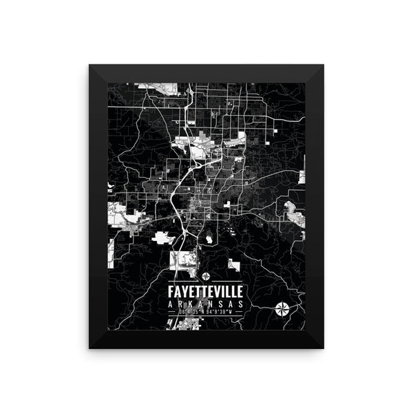 Fayetteville Arkansas Map with Coordinates