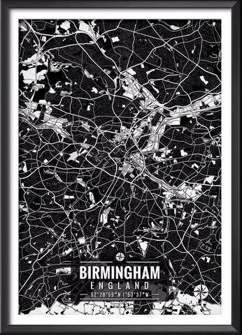 Birmingham England Map with Coordinates