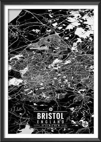 Bristol England Map with Coordinates