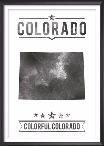 Colorado State Typography Print