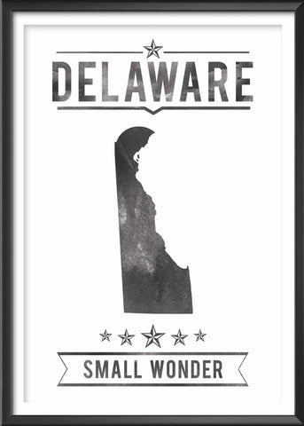 Delaware State Typography Print
