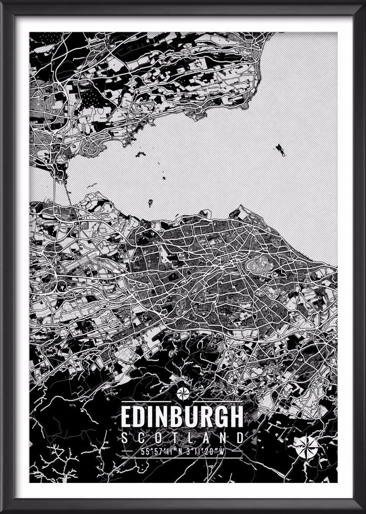 Edinburgh Scotland Map with Coordinates