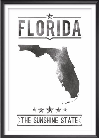 Florida State Typography Print