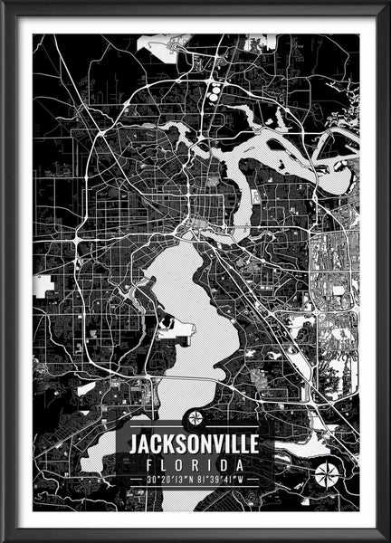 Jacksonville Florida Map with Coordinates