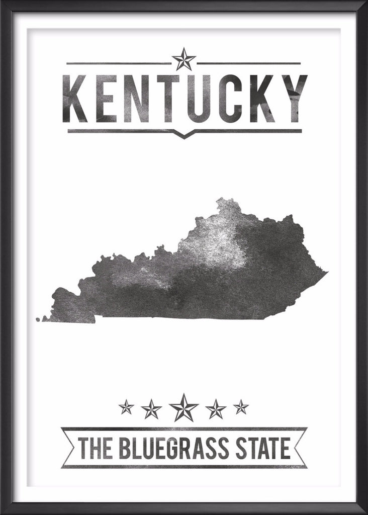 Kentucky State Typography Print