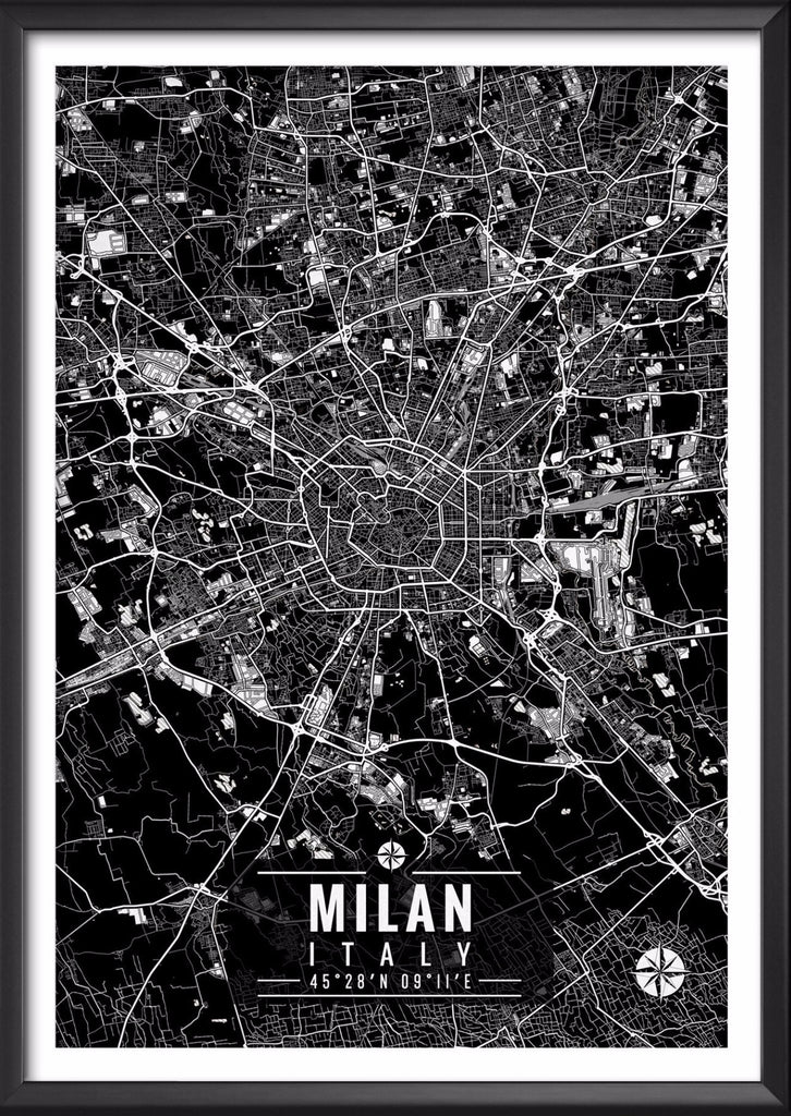 Milan Italy Map with Coordinates