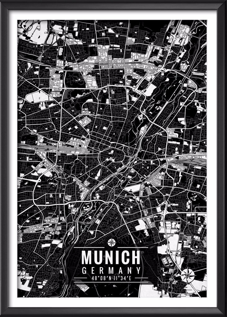 Munich Germany Map with Coordinates