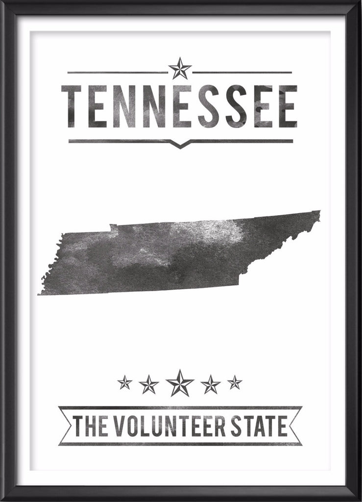 Tennessee State Typography Print