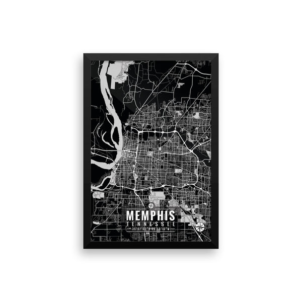 Memphis Tennessee Map with Coordinates