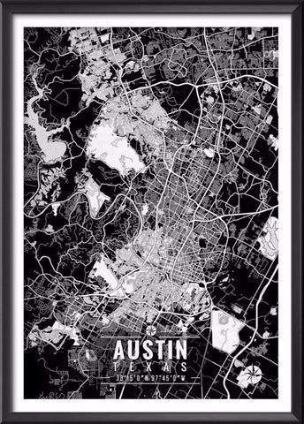 Austin Texas Map with Coordinates