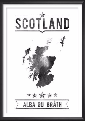 Scotland Typography Print, Scotland Poster, Scotland Wall Art, Scotland Gift, Scotland Decor, Scotland Print, Scotland Map, Scottish Decor - Ideate Create Studio