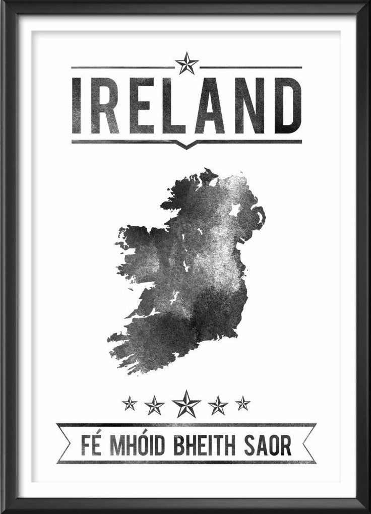 Ireland Typography Print, Ireland Poster, Ireland Wall Art, Ireland Gift, Ireland Decor, Ireland Print, Ireland Map, Ireland Decor, Ireland - Ideate Create Studio - 1