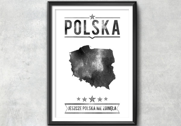 Poland Typography Print, Poland Poster, Poland Wall Art, Poland Gift, Poland Decor, Poland Print, Poland Map, Poland Decor, Poland - Ideate Create Studio