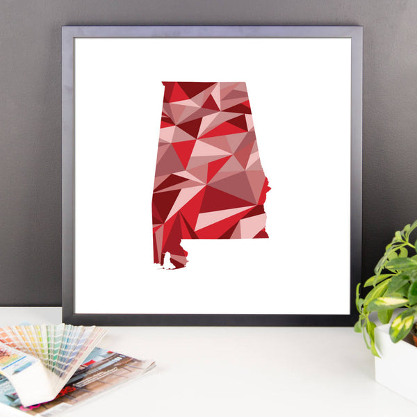Alabama State Pattern Map Print