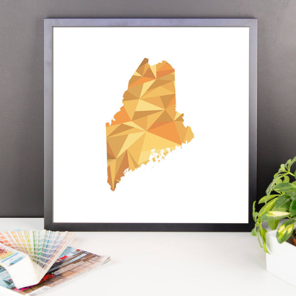 Maine State Pattern Map Print