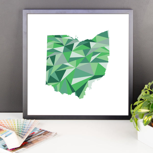 Ohio State Pattern Map Print