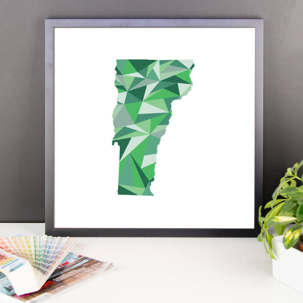 Vermont State Pattern Map Print