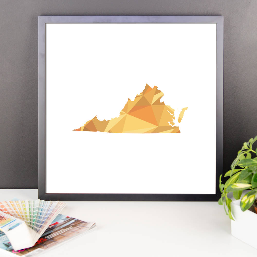Virginia State Pattern Map Print