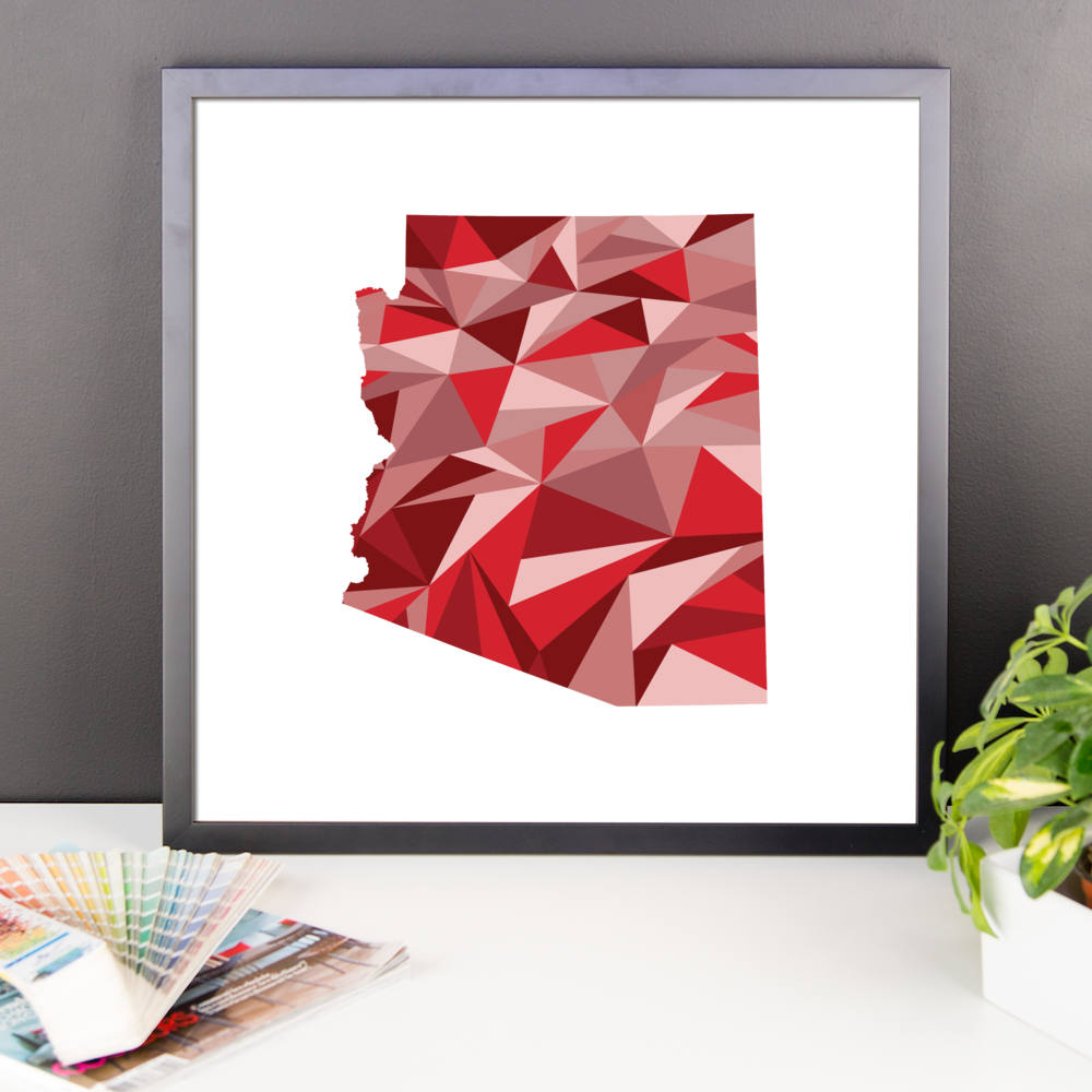 Arkansas State Pattern Map Print