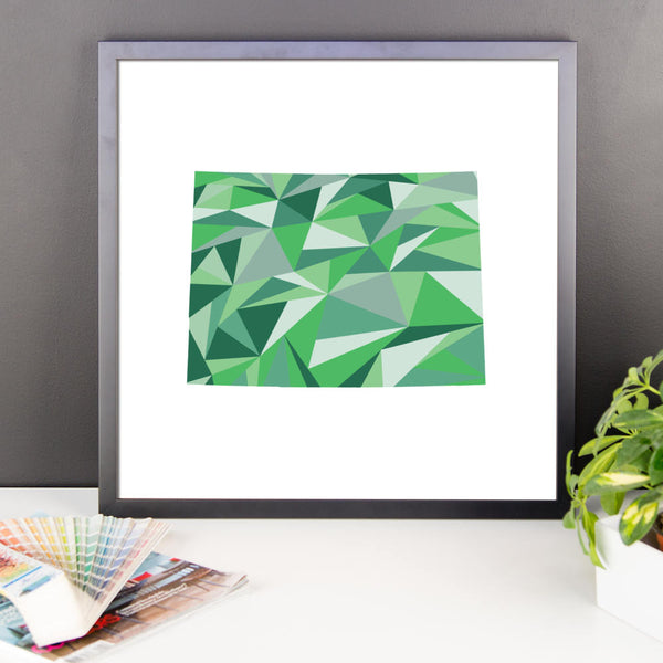 Colorado State Pattern Map Print