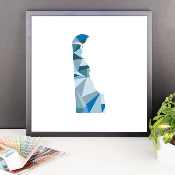 Delaware State Pattern Map Print