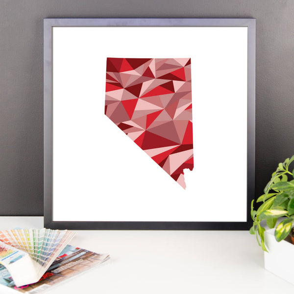 Nevada State Pattern Map Print