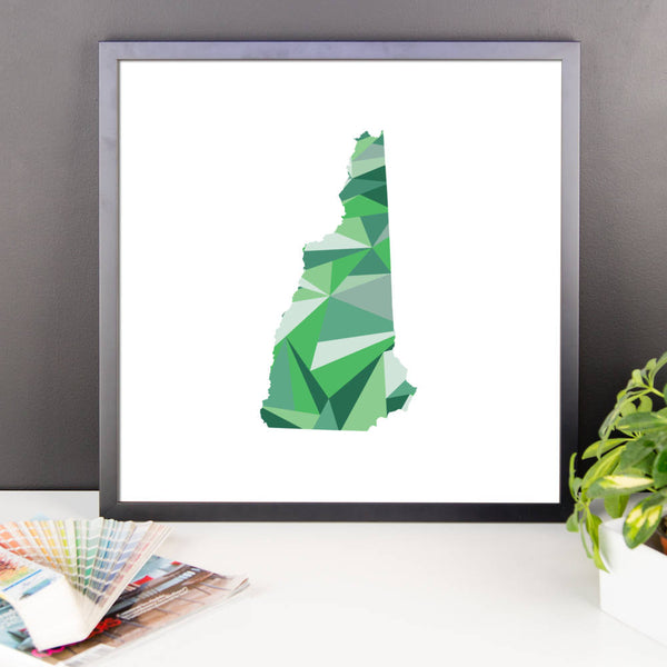 New Hampshire State Pattern Map Print