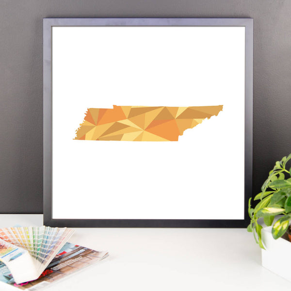 Tennessee State Pattern Map Print