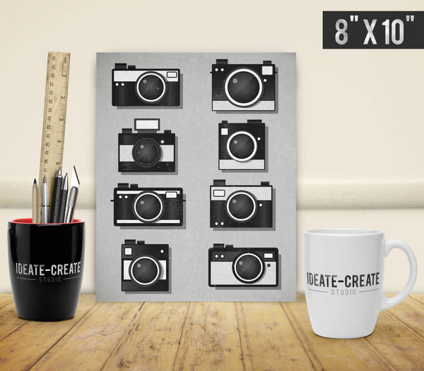 Vintage Camera Print, Camera Wall Art - Ideate Create Studio - 3