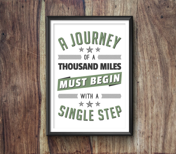 A Journey Typography Print - Ideate Create Studio - 2