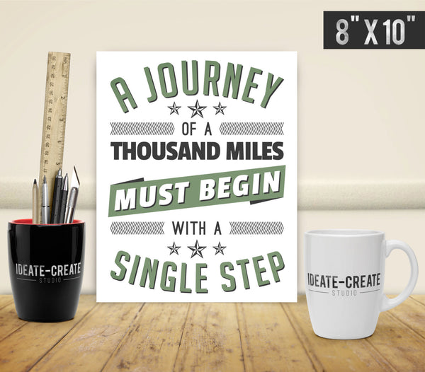 A Journey Typography Print - Ideate Create Studio - 3