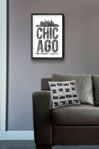 Chicago Typography Print, Chicago Print, Chicago Poster, Chicago Gift, Chicago Art, Chicago Pride, Chicago, Chicago Decor, Chicago Skyline - Ideate Create Studio - 4