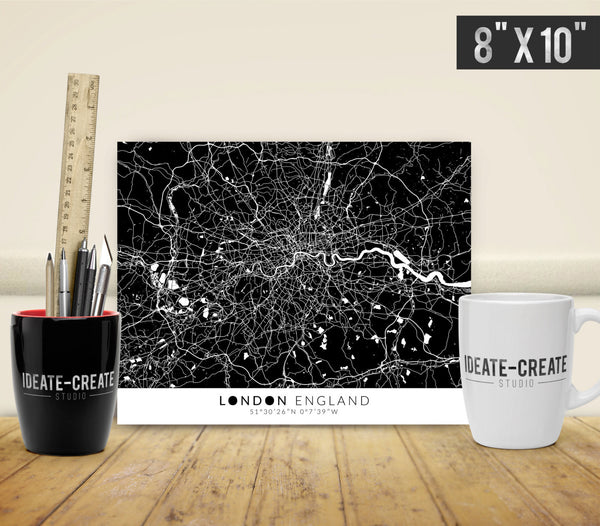 London Map with Coordinates - Ideate Create Studio - 2