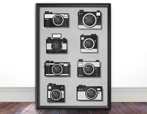 Vintage Camera Print, Camera Wall Art - Ideate Create Studio - 2