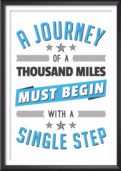 A Journey Typography Print - Ideate Create Studio - 1