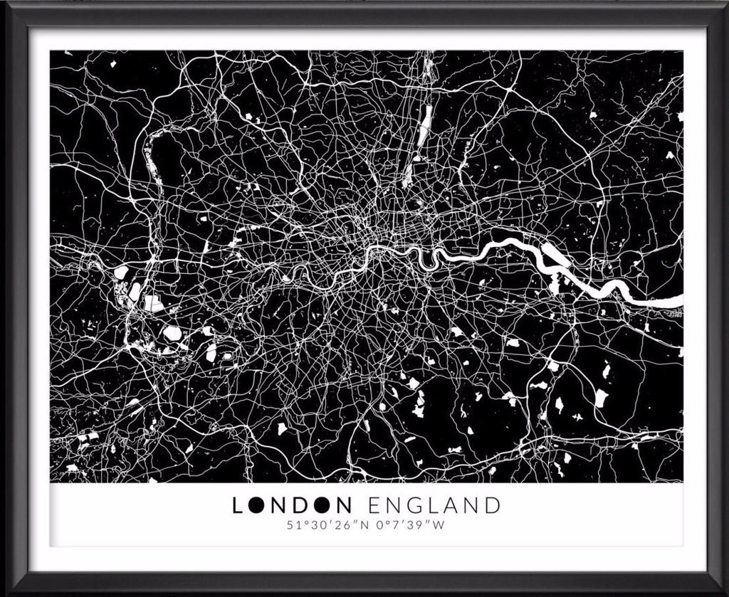 London Map with Coordinates - Ideate Create Studio