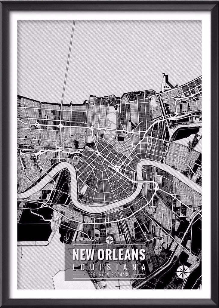 New Orleans Louisiana Map with Coordinates Ideate