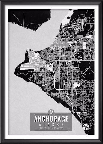 Anchorage Alaska Map with Coordinates
