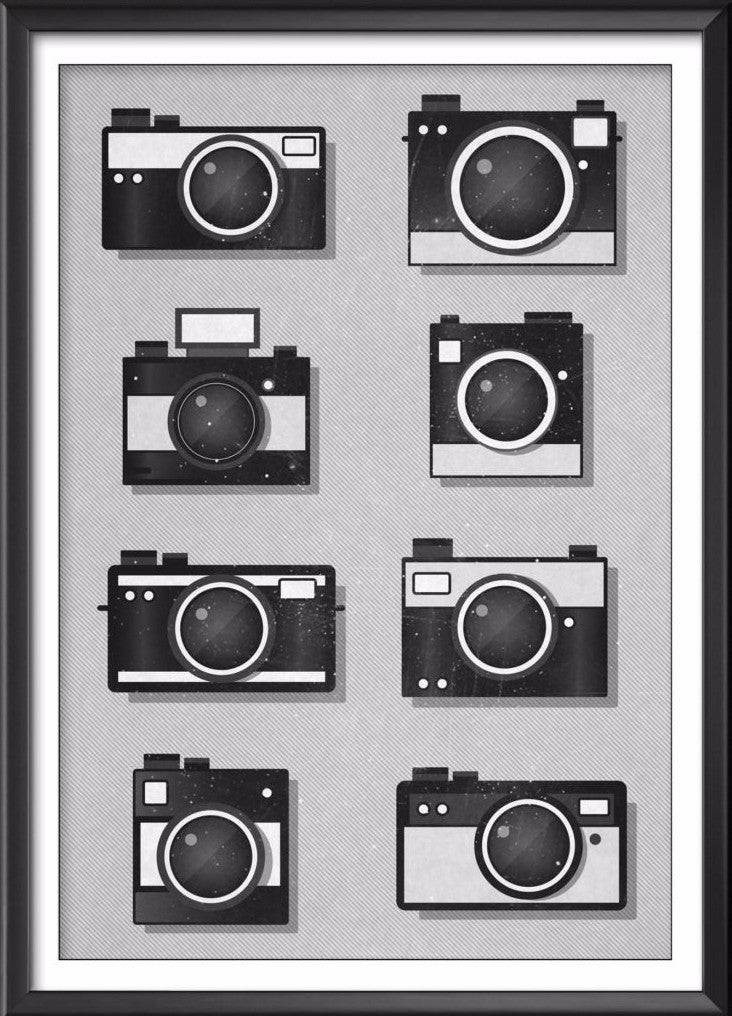 Vintage Camera Print, Camera Wall Art - Ideate Create Studio - 1