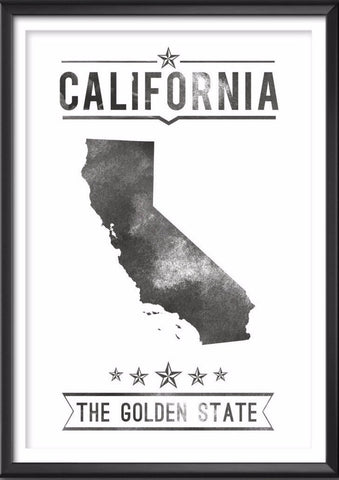 California State Typography Print