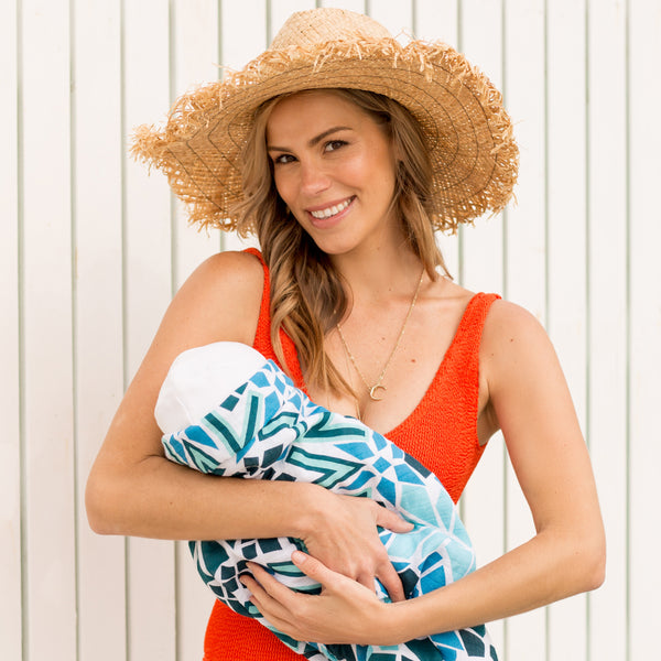 POOL SIDE 100% Organic Cotton Muslin Swaddle