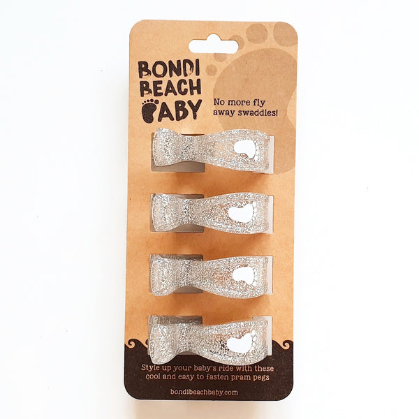 SPARKLE Pram Clips x 4 Pack