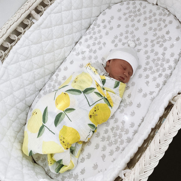 LEMONADE 100% Organic Cotton Muslin Swaddle