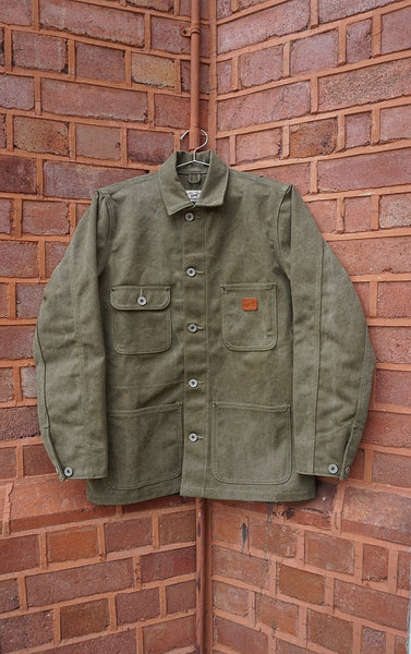 Olive Canvas Chore Coat