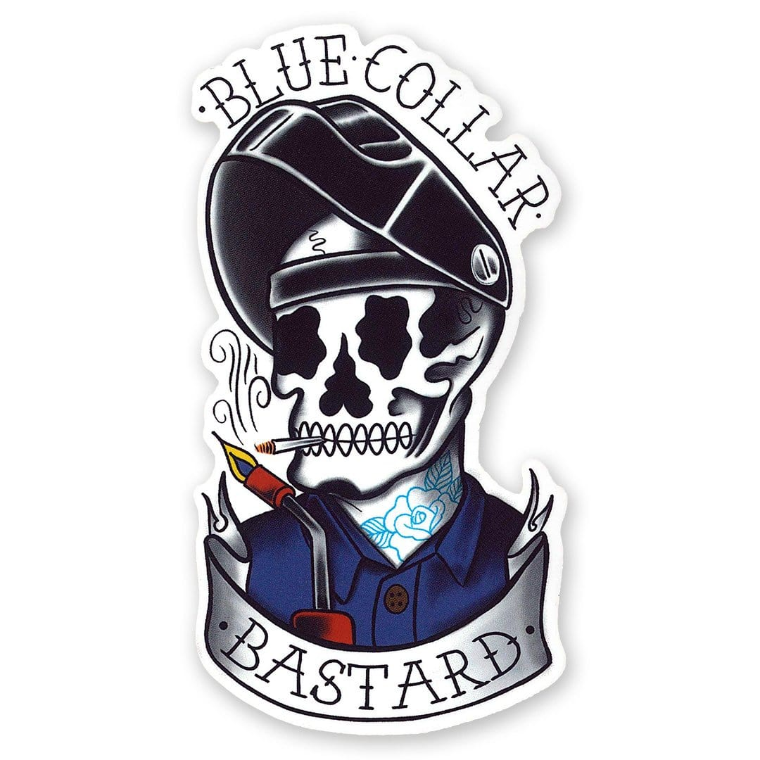 Blue Collar Bastard Sticker